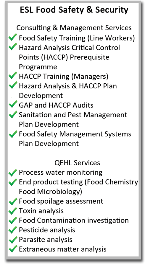Food Safety - Services